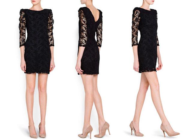 Фото платья черное с бежевым